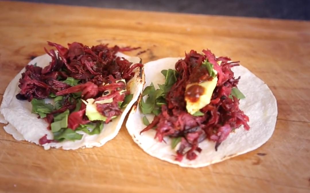 Receta: Tacos de Jamaica